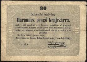 Ungarn / Hungary P.S122 30 Pengö Kreuzer 1849 (4)