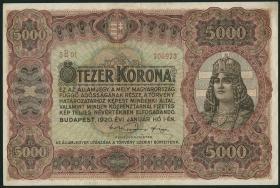 Ungarn / Hungary P.067 5000 Kronen 1920 (2)