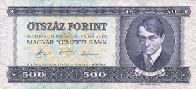 Ungarn / Hungary P.175 500 Forint 1990 (1)