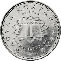 Ungarn 50 Forint 2007 Röm. Verträge