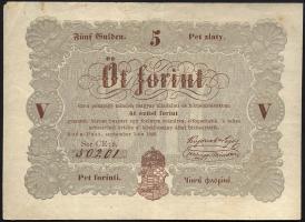 Ungarn / Hungary P.S116b 5 Forint 1848 (2-)