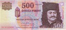 Ungarn / Hungary P.196c 500 Forint 2010 (1)