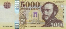 Ungarn / Hungary P.neu 5000 Forint 2016 (1)