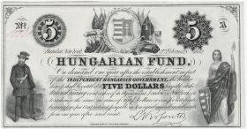 Ungarn / Hungary P.S137 5 Dollar 1852 (1)