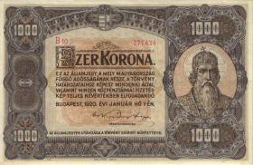 Ungarn / Hungary P.066 1.000 Kronen 1920 (2+)