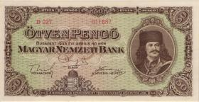 Ungarn / Hungary P.110 50 Pengö 1945 (1)
