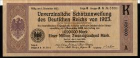 1.020.000 Mark Schatzanweisung 1923 (1-)