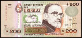 Uruguay P.89a 200 Pesos 2006 (1)