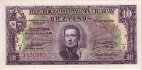 Uruguay P.37d 10 Pesos 1939 (1)