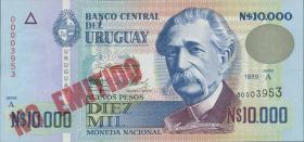 Uruguay P.68B 10000 Pesos 1989 NO EMITIDO (1)