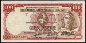 Uruguay P.39c 100 Pesos L.1939 (2)