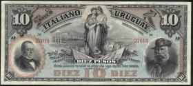 Uruguay P.S212r 10 Pesos 1887 (1)