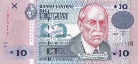 Uruguay P.81 10 Pesos Uruguayos 1998 (1)