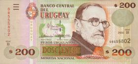 Uruguay P.77b 200 Pesos 2000 (1)