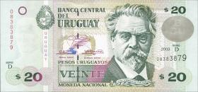 Uruguay P.83A 20 Pesos 2003 (1)
