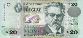 Uruguay P.86 20 Pesos 2008 (1)