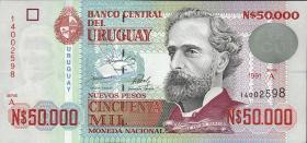 Uruguay P.70b 50000 Pesos 1991 (1)