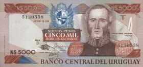 Uruguay P.65 5000 Nuevos Pesos (1983) B(1)