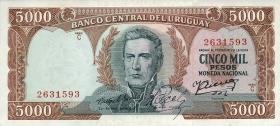 Uruguay P.50b 5000 Pesos (1967) (1)
