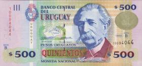 Uruguay P.82 500 Pesos 1999 (1)