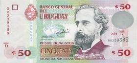 Uruguay P.87a 50 Pesos 2008 (1)