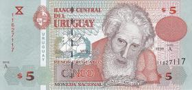 Uruguay P.80 5 Pesos Uruguayos 1998 (1)