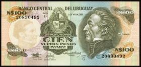 Uruguay P.62A 100 Nuevos Pesos (1987) (1)