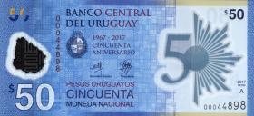 Uruguay P.neu 50 Pesos 2017 Polymer (1)