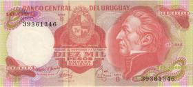 Uruguay P.53b 10000 Pesos (1974) Serie B (1)