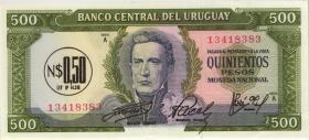 Uruguay P.54 0,50 Nuevos Pesos (1975) (1)