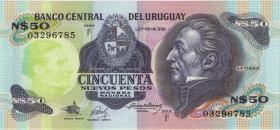 Uruguay P.61A 50 Nuevos Pesos (1983) Serie F (1)