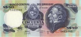 Uruguay P.61d 50 Nuevos Pesos (1987) (1)