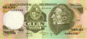 Uruguay P.62c 100 Nuevos Pesos (1980)  (1)