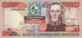 Uruguay P.65 5000 Nuevos Pesos (1983) Serie A (1)