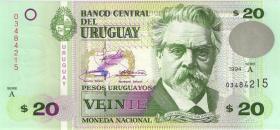 Uruguay P.74a 20 Pesos Uruguayos 1994 (1)