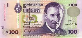 Uruguay P.76c 100 Pesos Uruguayos 2000 (1)