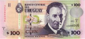 Uruguay P.88b 100 Pesos 2011 (1)