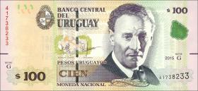 Uruguay P.95 100 Pesos Uruguayos 2015 (1)