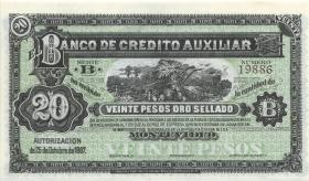 Uruguay P.S164r 20 Pesos 1887 (1-)