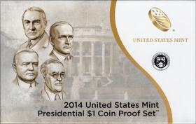 USA Präsidenten-Dollar Proof Set 2014