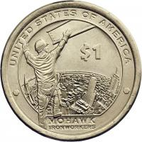 USA 1 Dollar 2015 Indianerin / Mohawk Ironworkers