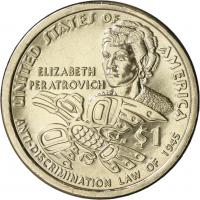 USA 1 Dollar 2020 Indianerin /Elizabeth Peratrovich - Anti-Discrimination Law