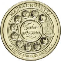 USA 1 Dollar 2020 Telephone - Massachusetts