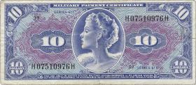 USA / United States P.M56 10 Dollars (1964) (3+)