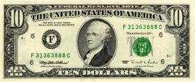 USA / United States P.499 10 Dollars 1995 F (1)
