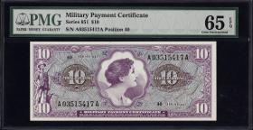 USA / United States P.M74 10 Dollars (1969) (1)