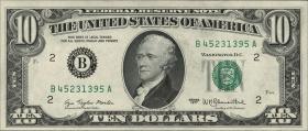 USA / United States P.464a 10 Dollars 1977 (1)
