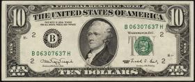 USA / United States P.486 10 Dollars 1990 (1)
