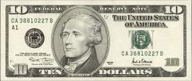 USA / United States P.511 10 Dollars 2001 (1)