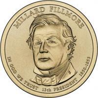 USA 1 Dollar 2010 13. Fillmore